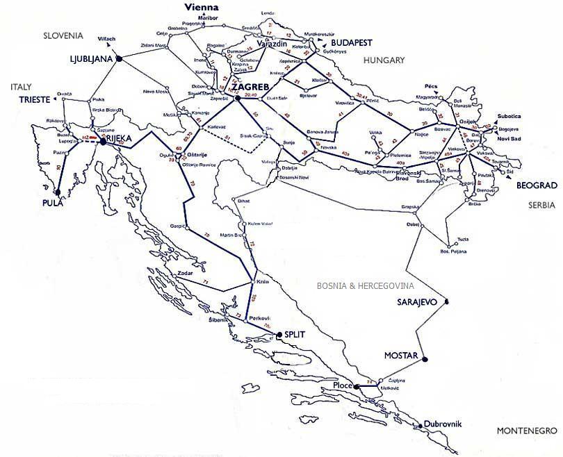 Reisen Mit Dem Zug Nach Dalmatien Kroatien