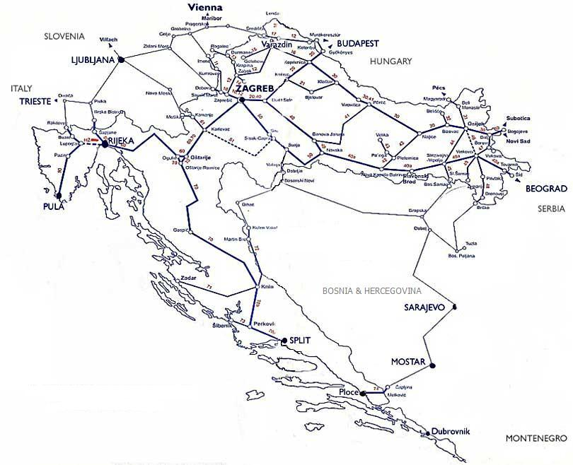 Traveling By Train To Dalmatia Croatia