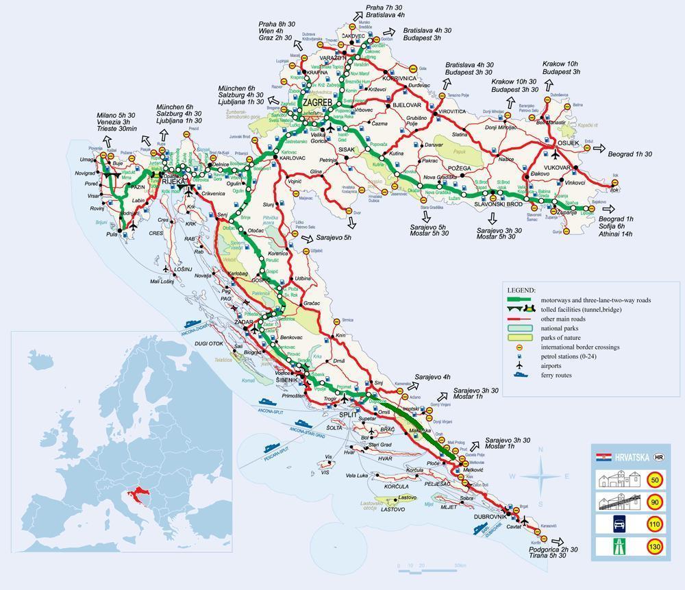 Viaggiare In Auto In Dalmazia Croazia